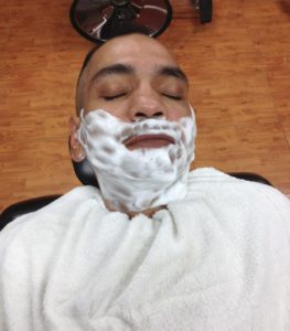 Soothing Hot Towel Razor Shave